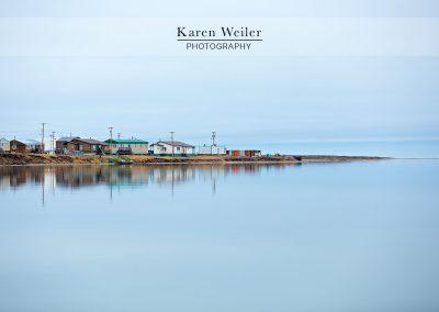 village on arctic ocean in Canada - fine art print